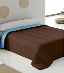 Bicolor Duvet Turquoise-Brown